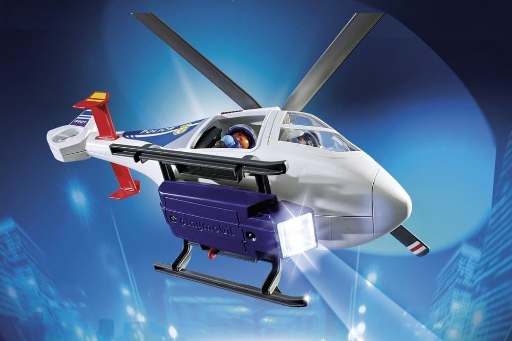 Hélicoptère de police avec projecteur 6921 Playmobil