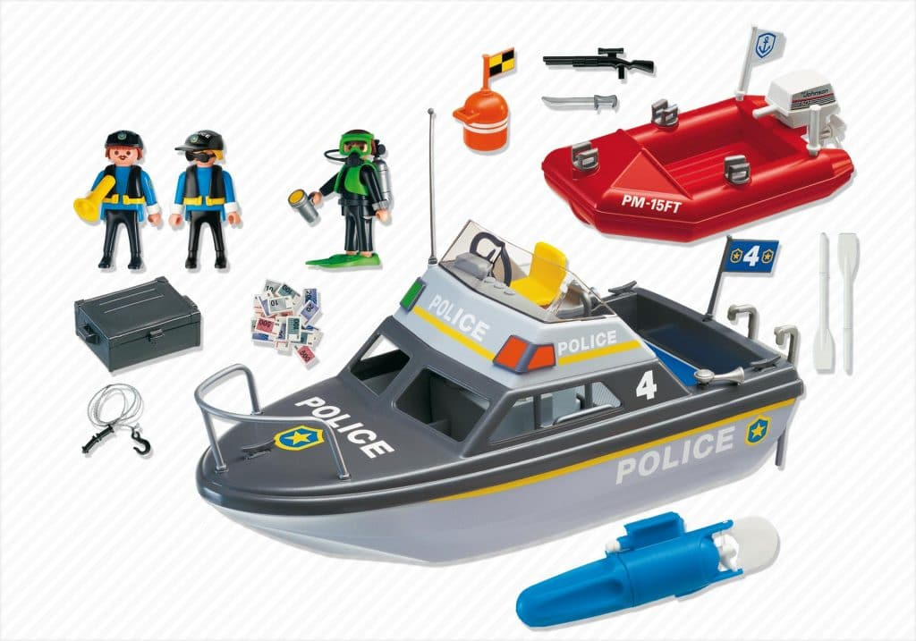 Vedette de police 4429 et bateau de bandit