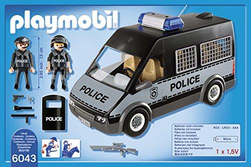Fourgon de police Playmobil avec sirène et gyrophare 6043