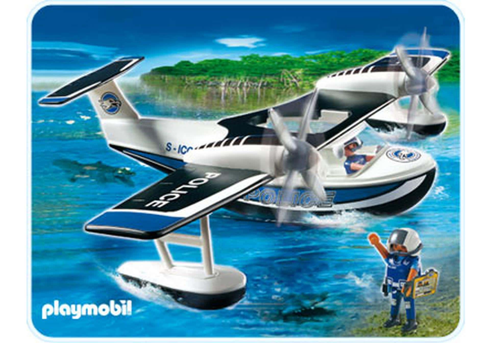Hydravion et policiers Playmobil 4445