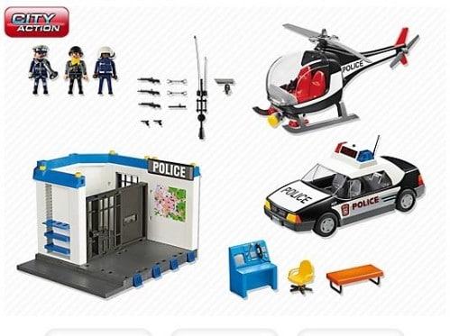 Poste de police et hélicoptère Playmobil 5607
