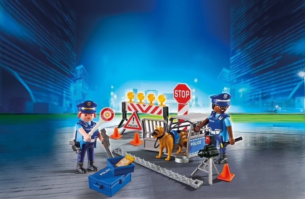 Barrage de police Playmobil City Action 6924