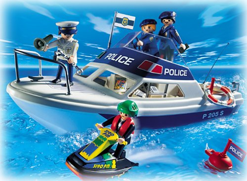 vedette de police et jet ski playmobil 3190 police playmobil. Black Bedroom Furniture Sets. Home Design Ideas