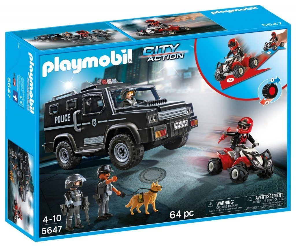 Fourgon de police forces spéciales Playmobil 5647
