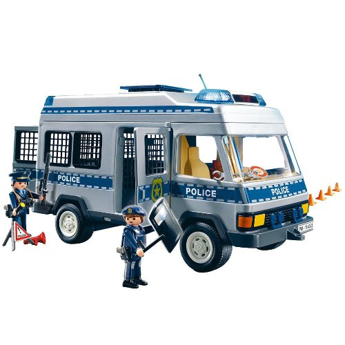 Fourgon quip et policiers playmobil 4023 police playmobil - Playmobil camion police ...