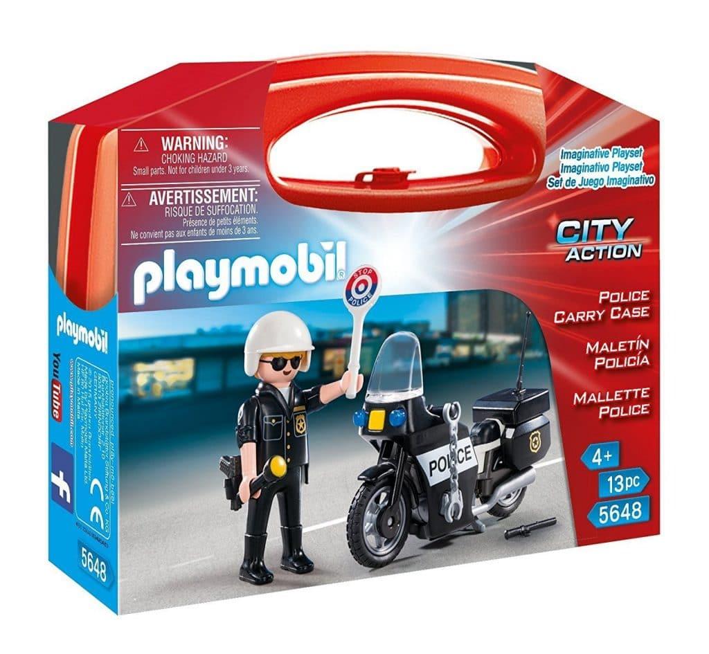 Mallette moto de police Playmobil 5648