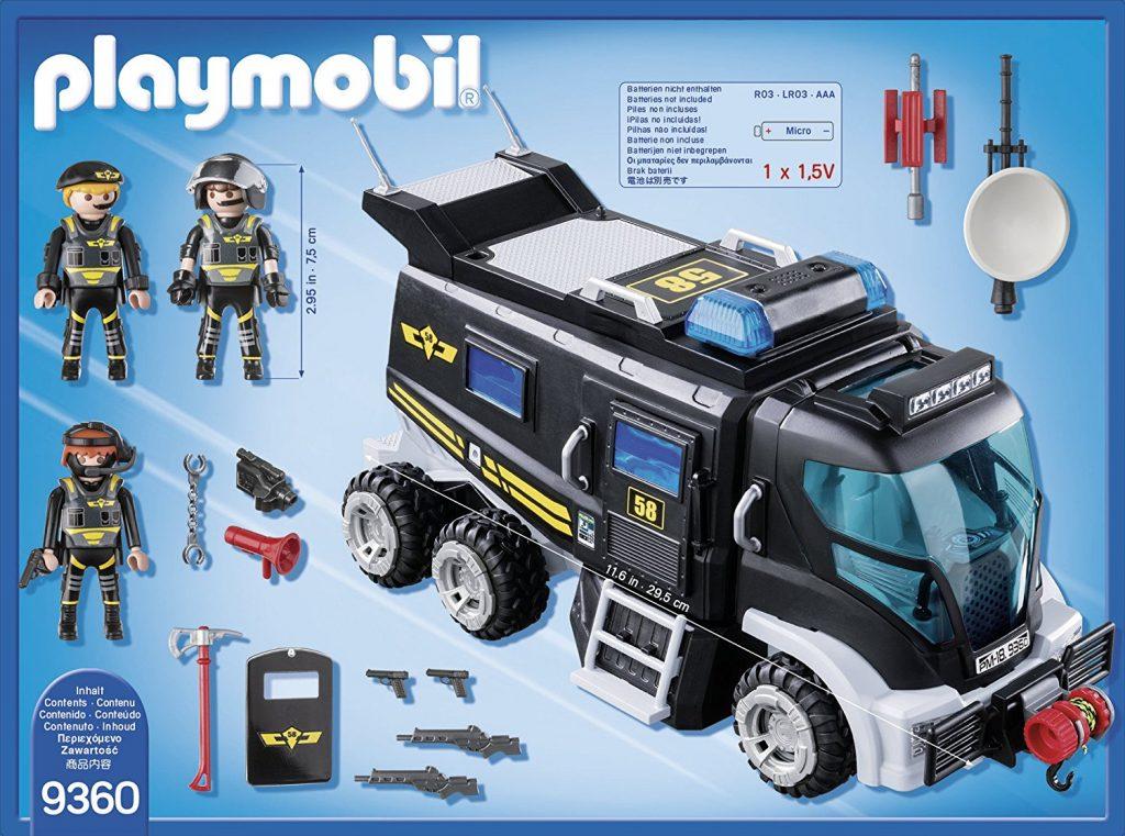 Camion des policiers d'élite avec sirène et gyrophare Playmobil 9360