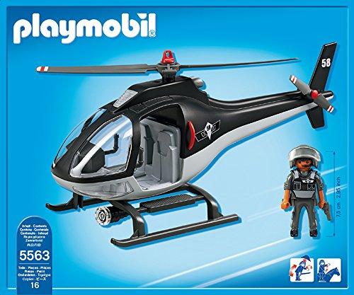 Hélicoptère de police avec policier Plamyobil City Action 5563