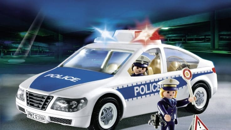voiture de police avec lumi res clignotantes playmobil 5184 police playmobil. Black Bedroom Furniture Sets. Home Design Ideas