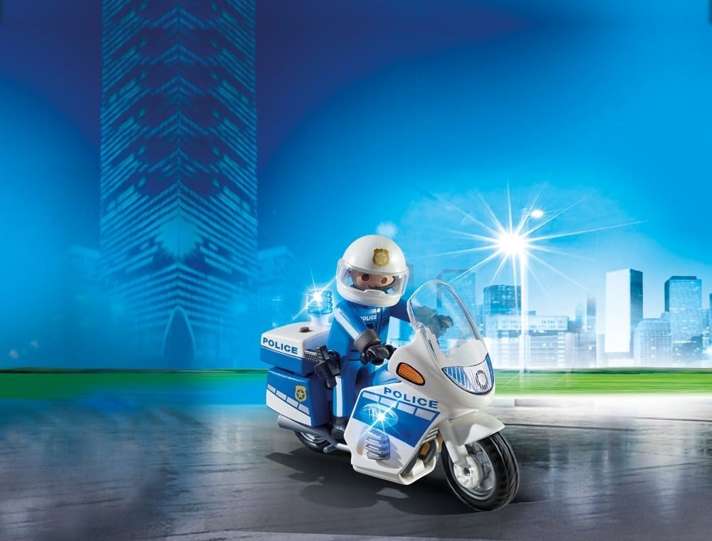 Moto de police avec gyrophare Playmobil City Action 6923
