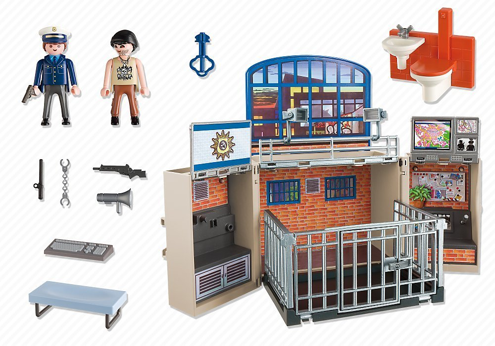 Poste de police transportable Playmobil City Action 5421