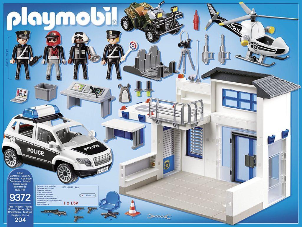 Poste de police avec véhicules Playmobil City Action 9372
