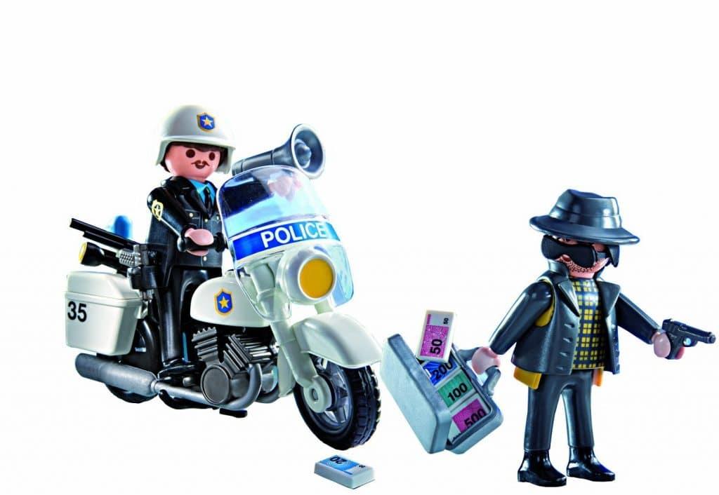 Valisette de police Playmobil 5891 avec moto