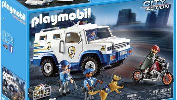 Fourgon blindé Playmobil avec convoyeurs de fonds 9371