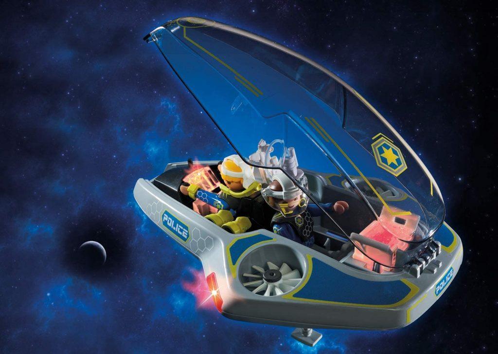 Véhicule volant des policiers de l'espace Galaxy Police Playmobil 70019