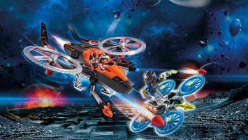 Hélicoptère et pirates de l'espace Galaxy Police Playmobil 70023