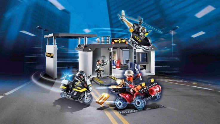 Quartier général transportable policiers d'élite Playmobil 70338