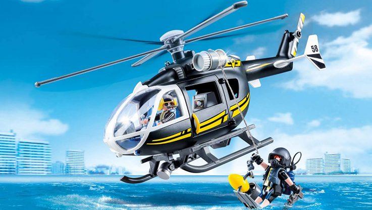 Hélicoptère et policiers d'élite Playmobil 9363
