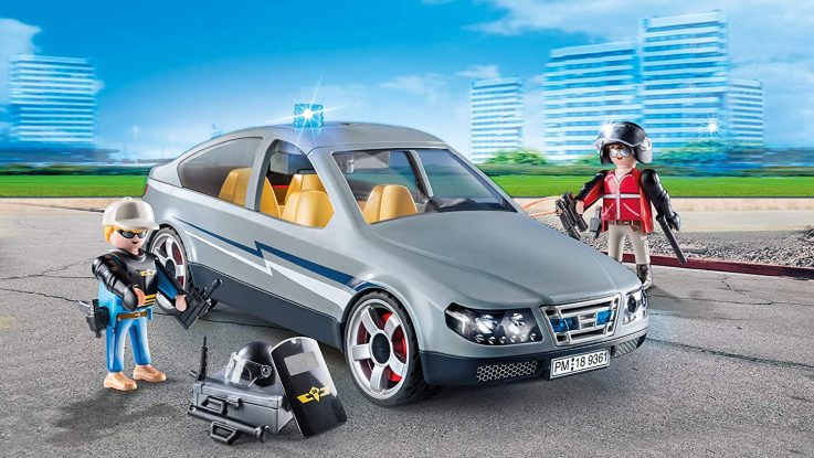 Voiture banalisée avec policiers en civil Playmobil City Action 9361