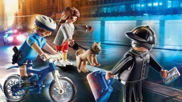 Policier à vélo avec voleur Playmobil 70573 City Action